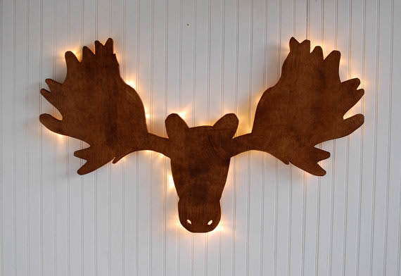 Klondike Wood Moose Light
