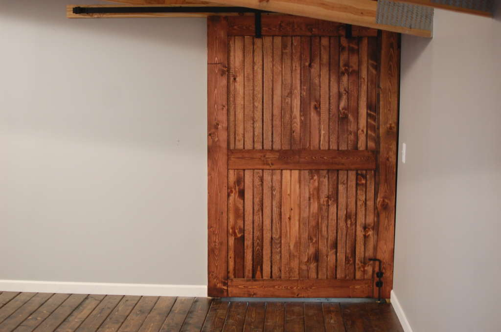 Rustic Ranch Style Interior Barn Door • Southern Sunshine