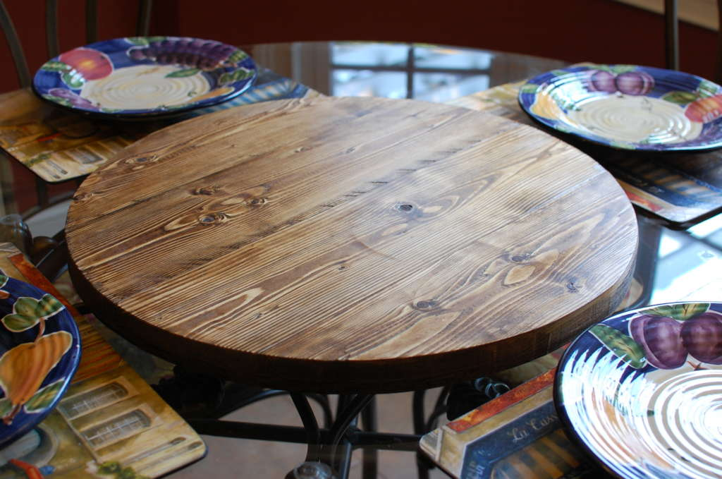 Round Wood Lazy Susan Southern Sunshine