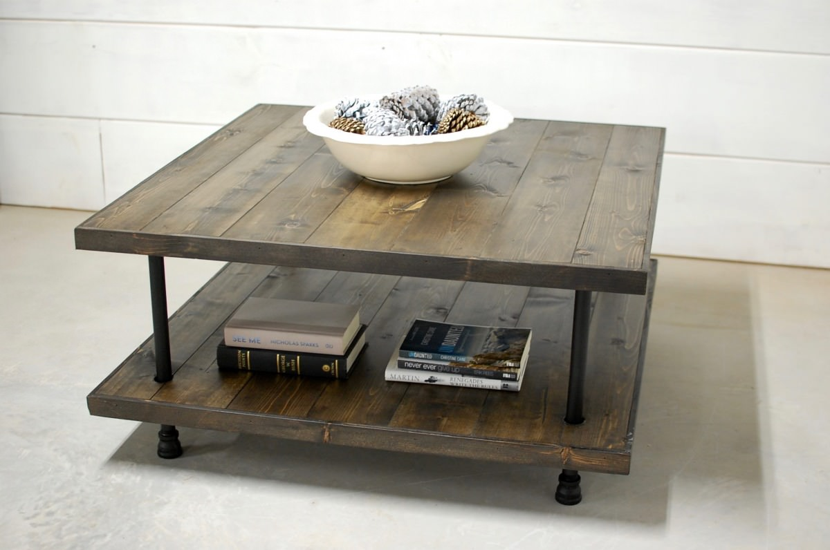 Luke 2 Tier Rustic Coffee Table • Southern Sunshine