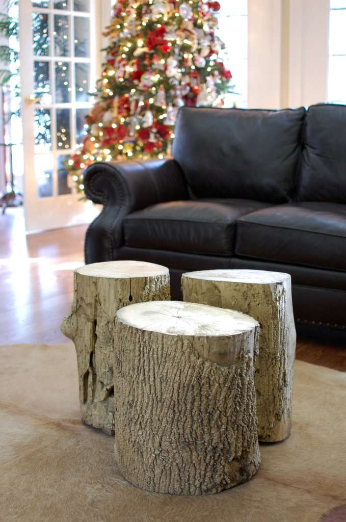 Gold Tree Stump Coffee Table Goodness • Southern Sunshine