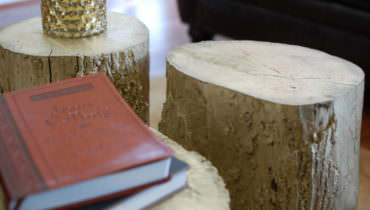 Gold Tree Stump Coffee Table Goodness