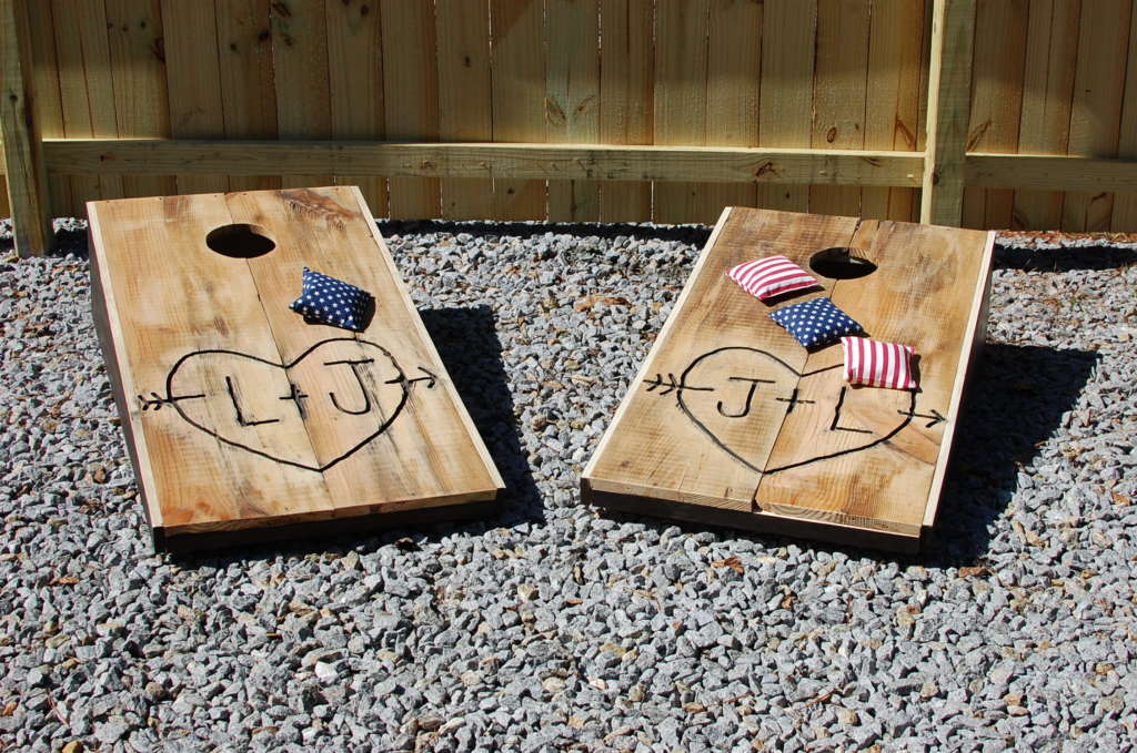 Custom Corn Hole Boards & Bean Bag Toss • Southern Sunshine