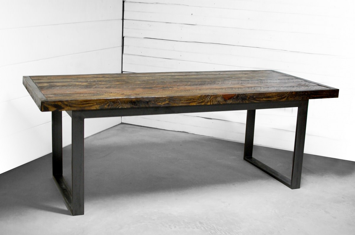 Alamo Wood Industrial Dining And Office Table Southern