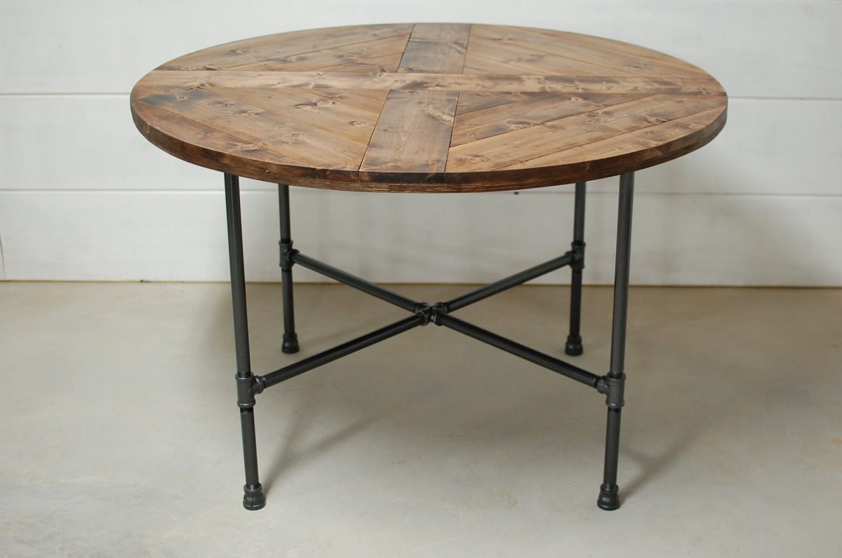 Bench Dining Tables: Rachela Industrial Pipe Dining Table • Southern Sunshine