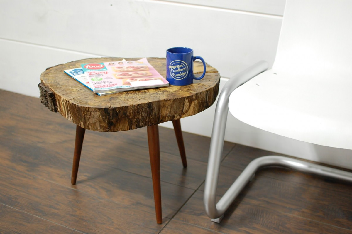 Natural Tree Stump Side & End Tables • Southern Sunshine