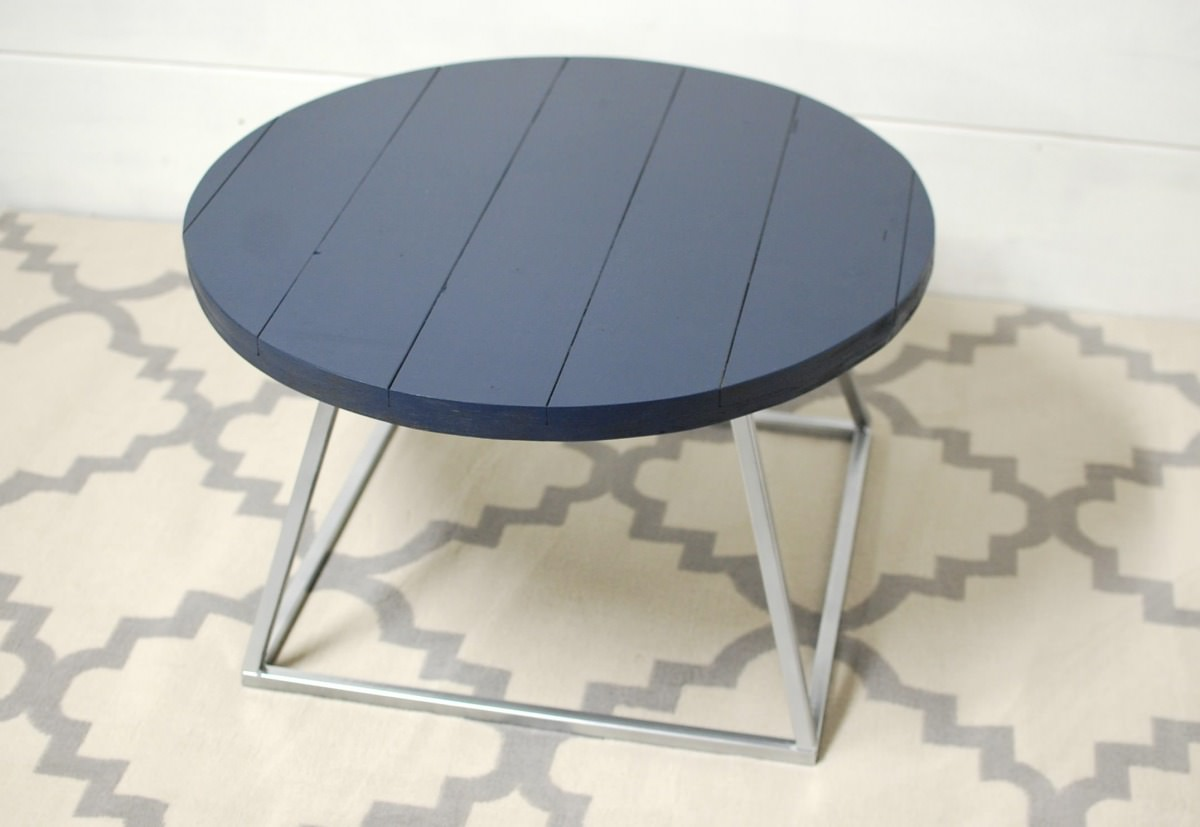 home round coffee tables navy falabella coffee table with modern base