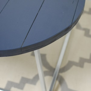 Round Navy Blue Coffee Table