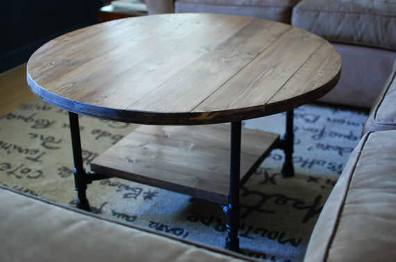 Falabella Industrial Shelf Pipe Coffee Table Southern