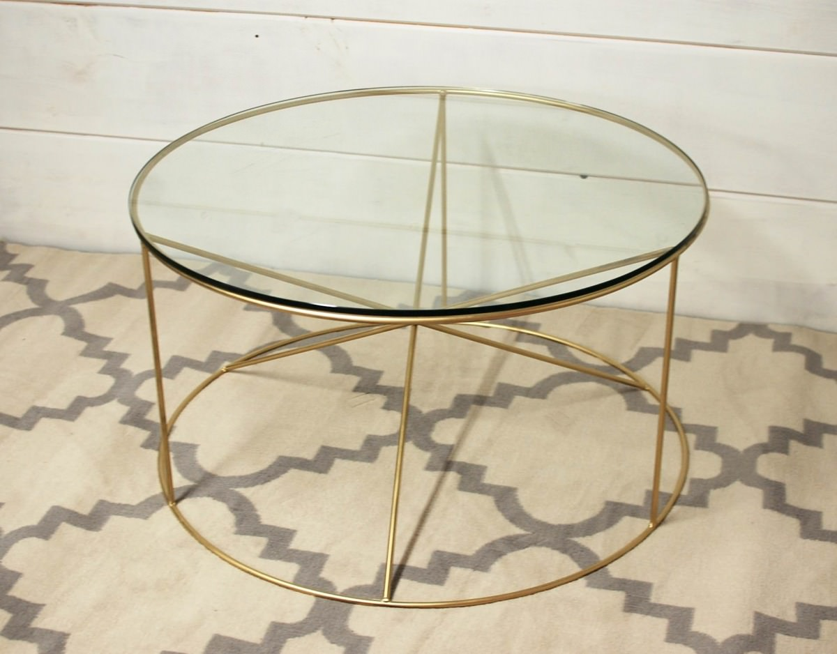 Home Coffee Tables Calypso Round Metal Glass Coffee Table