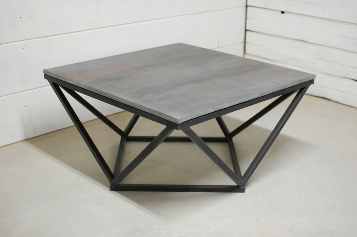 boone zinc top coffee table southern sunshine