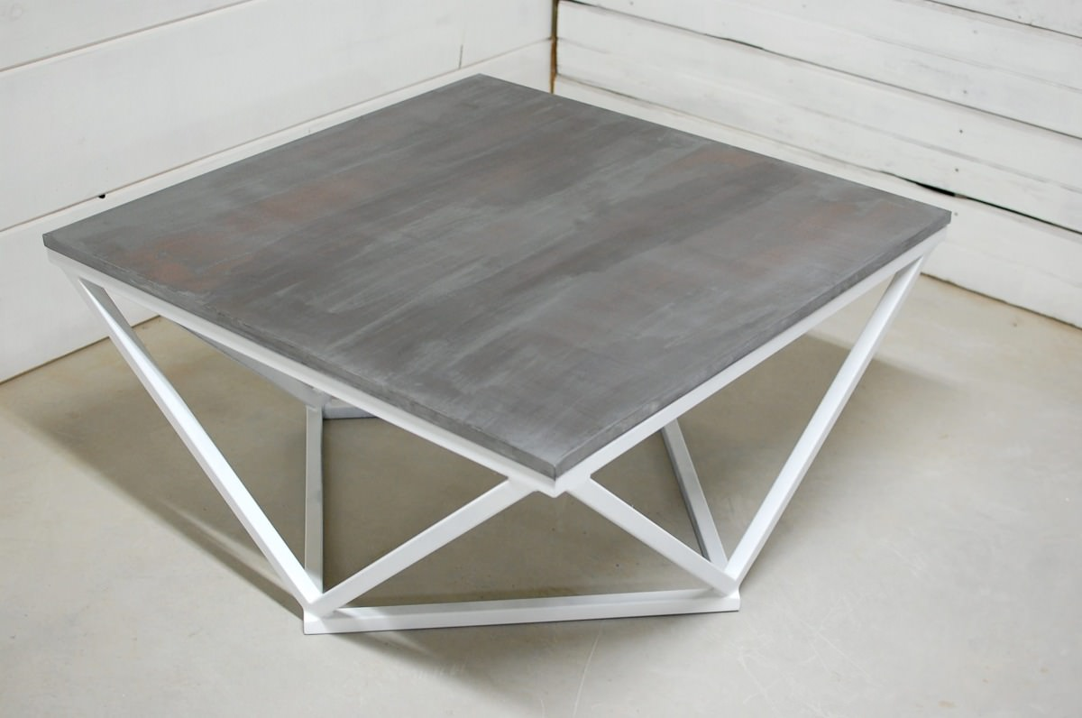 Boone Zinc Top Coffee Table • Southern Sunshine