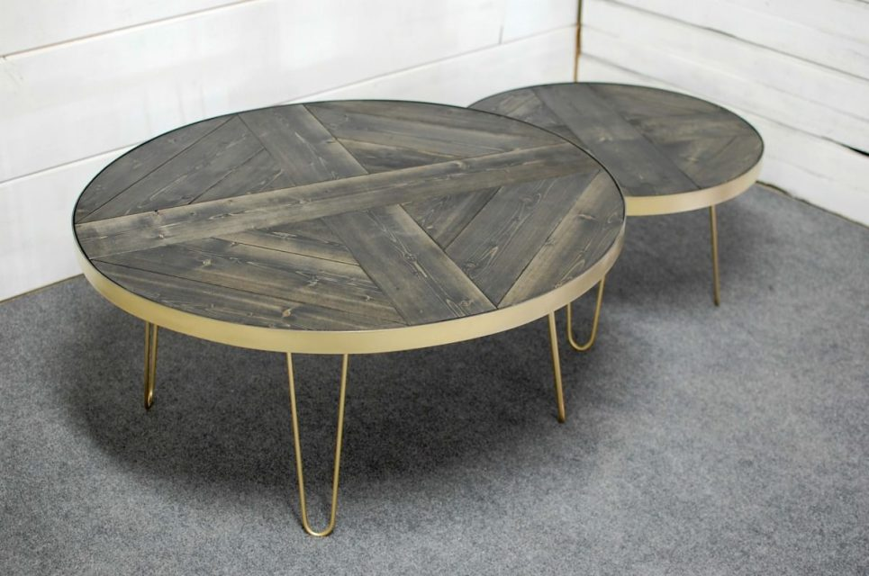 Rachela Hairpin Nesting Coffee Tables
