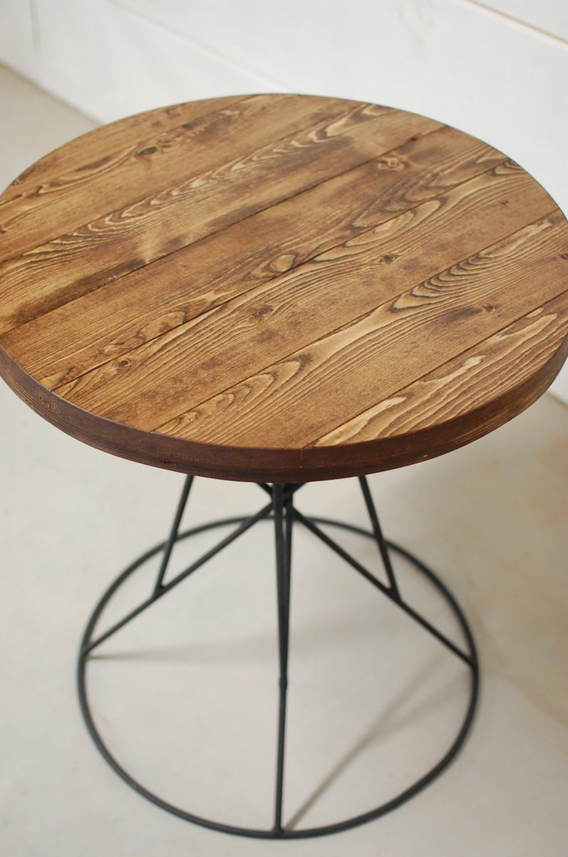 Lido round wood side table southern sunshine for Round wood side table