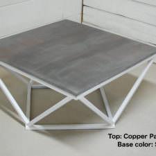 Copper Patina Zinc Table