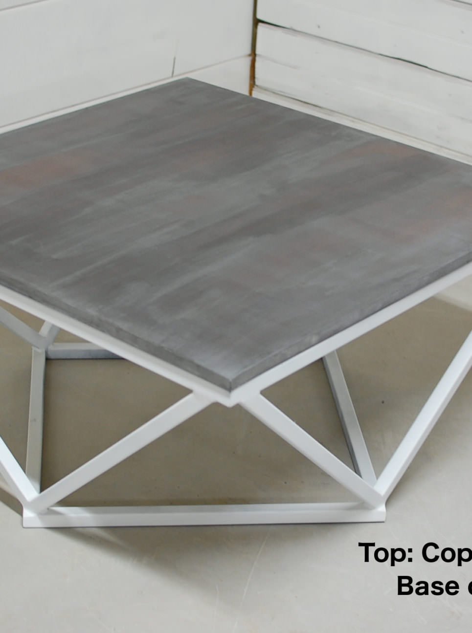 Copper Patina Zinc Table