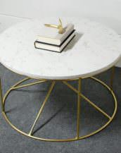 Calypso White Marble Table