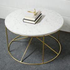Calypso White Marble Table