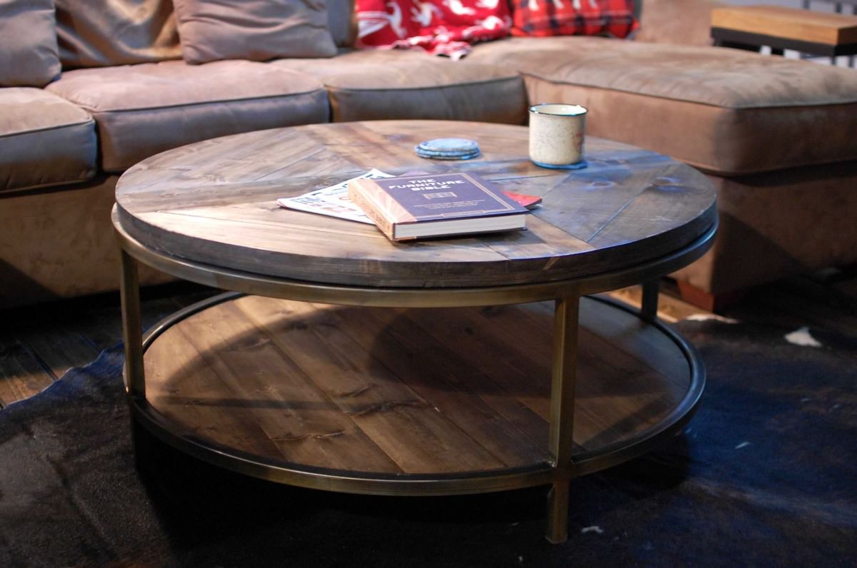 Round Wood Coffee Tables & Home Decor