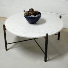 Ashford White Marble Coffee Table
