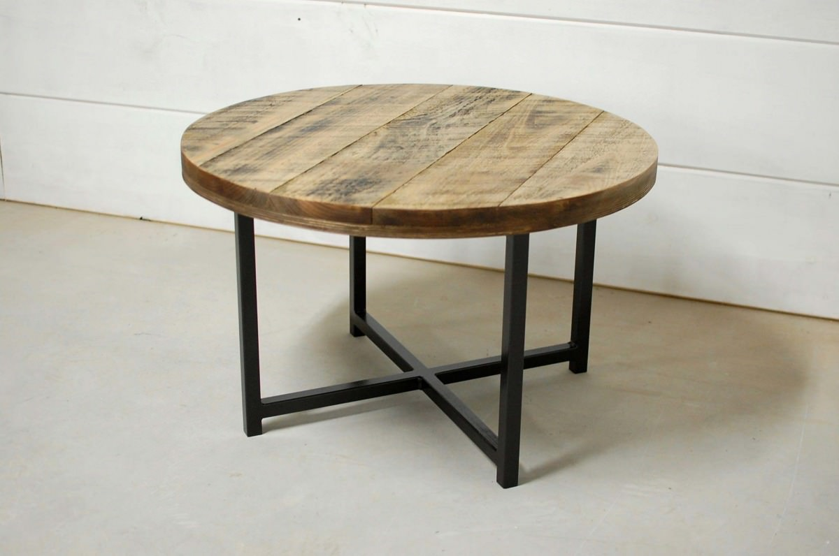 Porter Round Wood Coffee Table Southern Sunshine