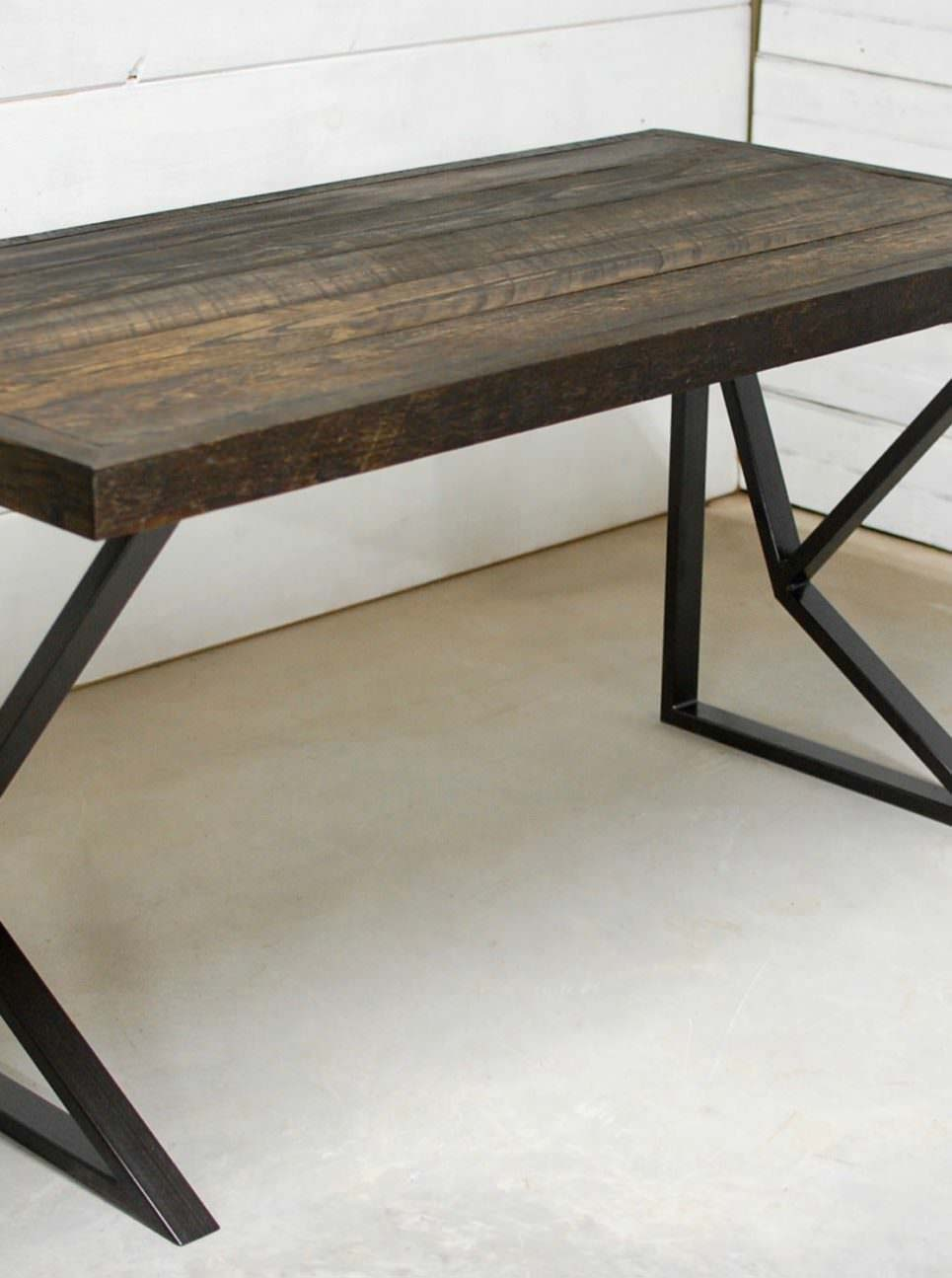 somerset modern recycled wood desk • southern sunshine - somerset modern wood desk