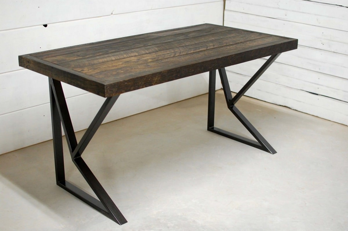 Somerset Modern Wood Desk Southern Sunshine