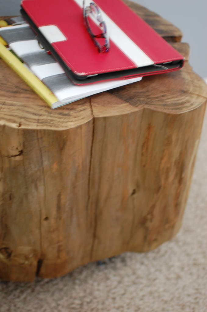 Natural Tree Stump Table With Hairpin Legs Southern Sunshine