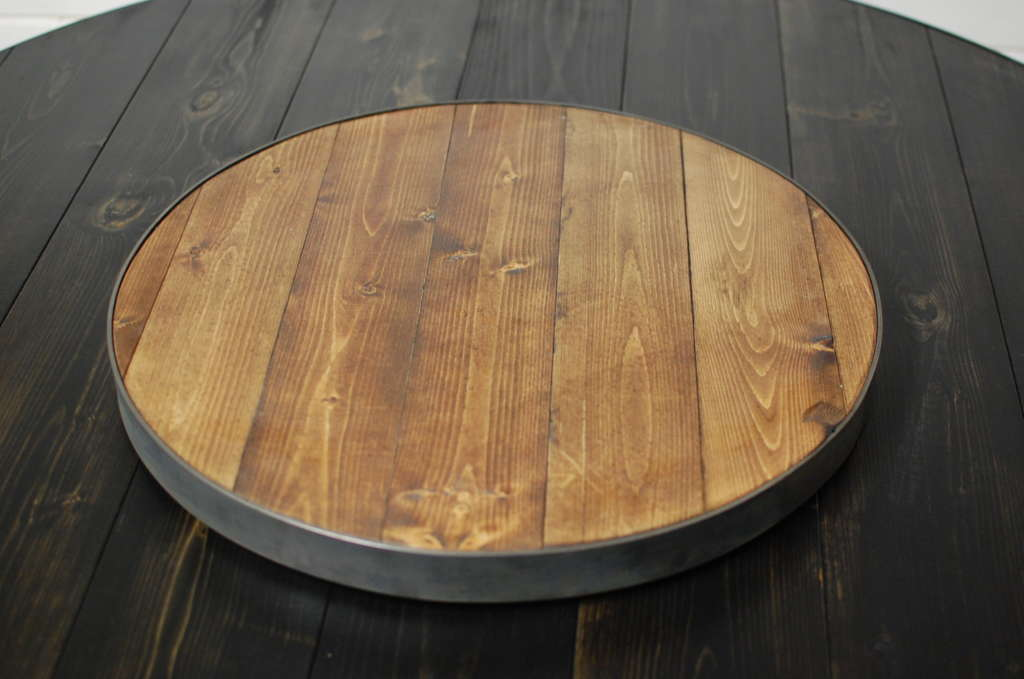 Wine Barrel Wood Round Lazy Susan Southern Sunshine