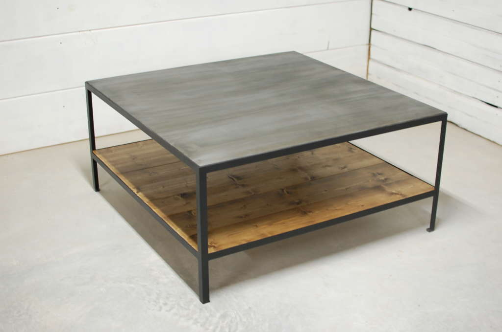 Bourbon Industrial Two Tier Coffee Table