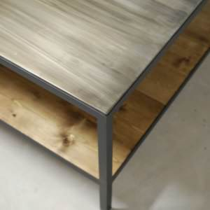 Bourbon Industrial Two-Tier Coffee Table