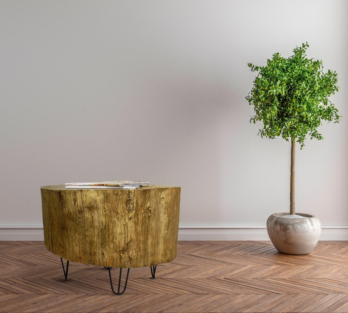 Tree Stump Table Legs Tree Stump Side Table With Mix And