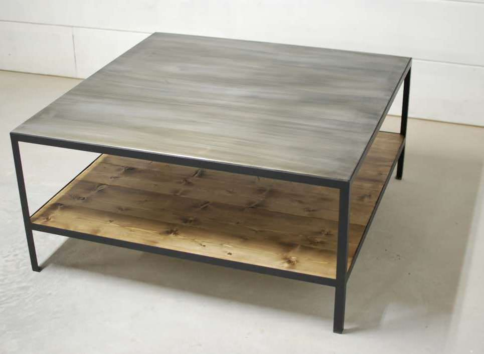 Bourbon 2 Tier Industrial Coffee Table