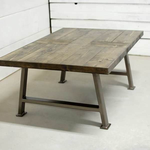 JW Wood Industrial Coffee Table