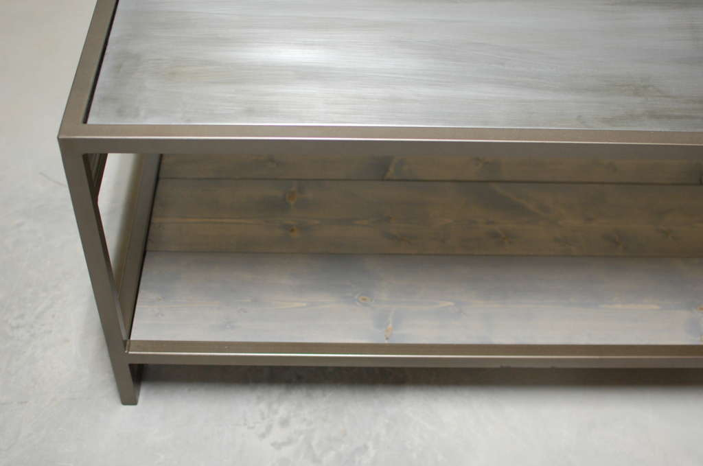 Attica 2 Tier Zinc Coffee Table Southern Sunshine