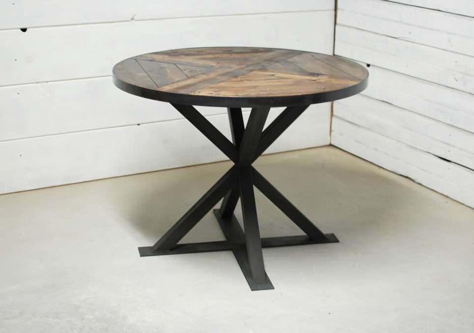 ... Round Industrial Pedestal Dining Table. Previous