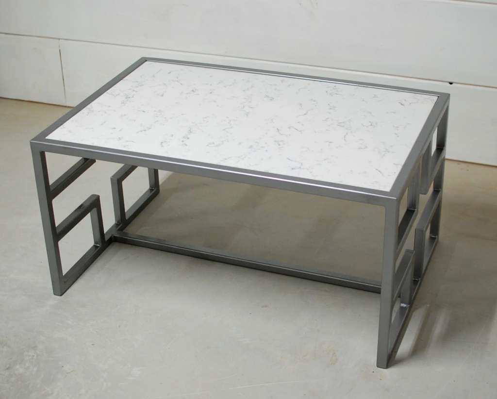 Justice White Marble Coffee Table Southern Sunshine