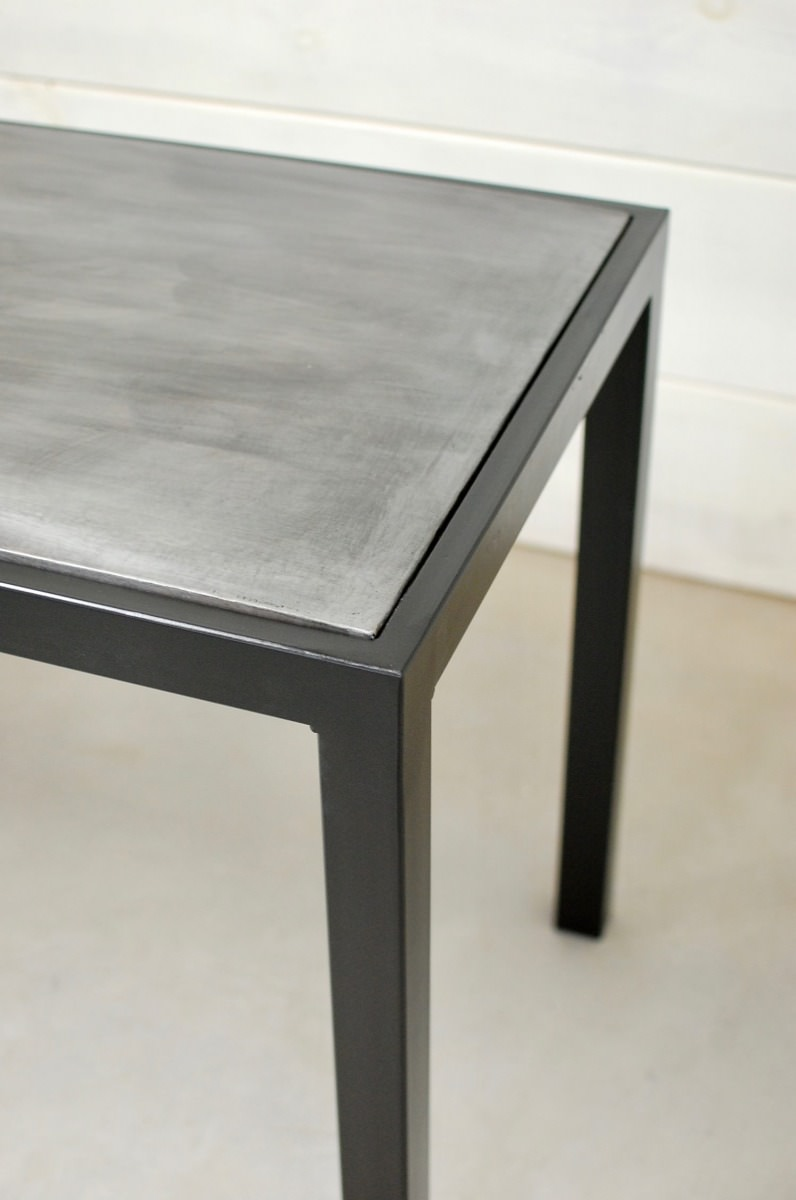 Square Zinc Table Tops Only Southern Sunshine