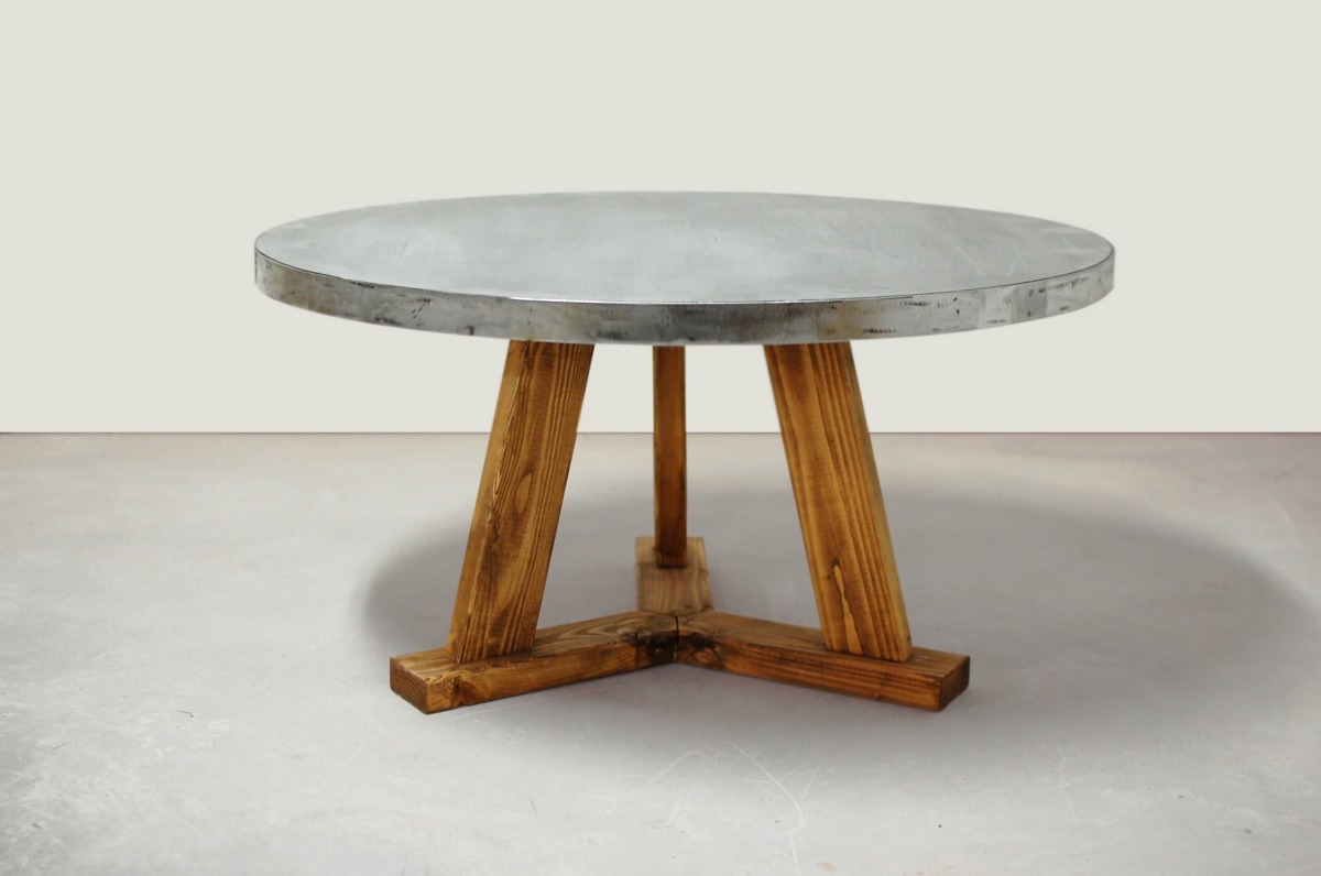 Nashville Round Zinc Coffee Table Southern Sunshine