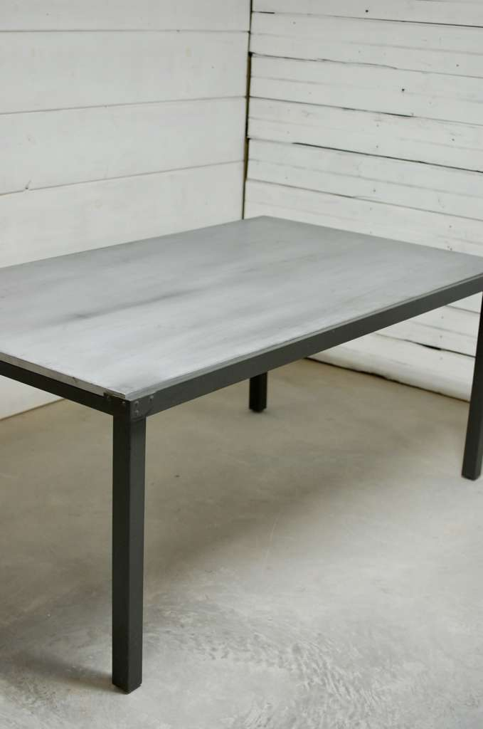 Zinc Top Outdoor Dining Table Abbott