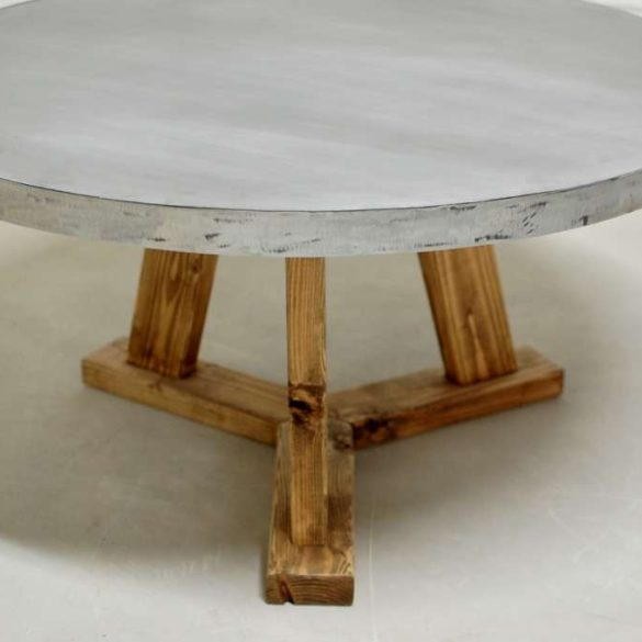 Knoxville Round Zinc Coffee Table