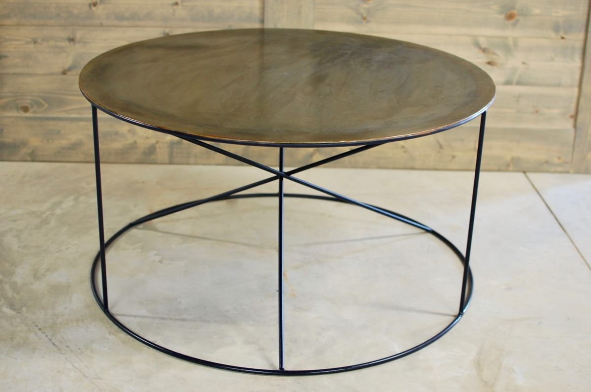 Calypso Round Metal Coffee Table Southern Sunshine