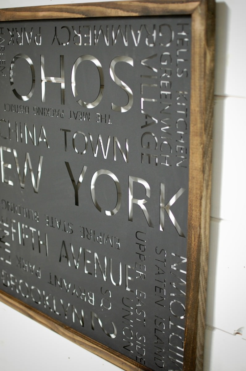 New York City Typography Wall Art Southern Sunshine