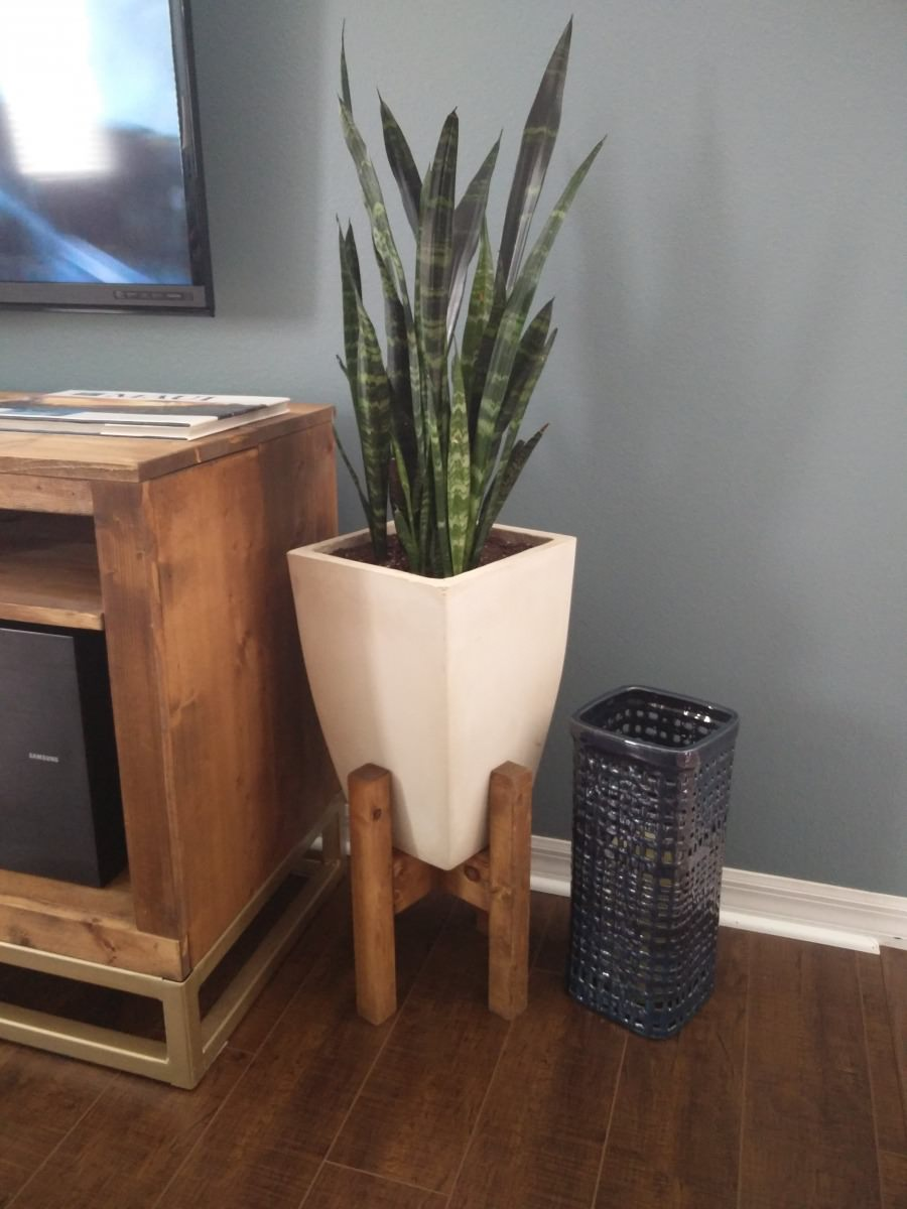 Mid Century Modern Plant Stand Southern Sunshine