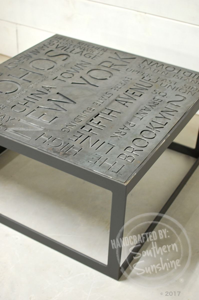 Maximus Urban Industrial Coffee Table Southern Sunshine
