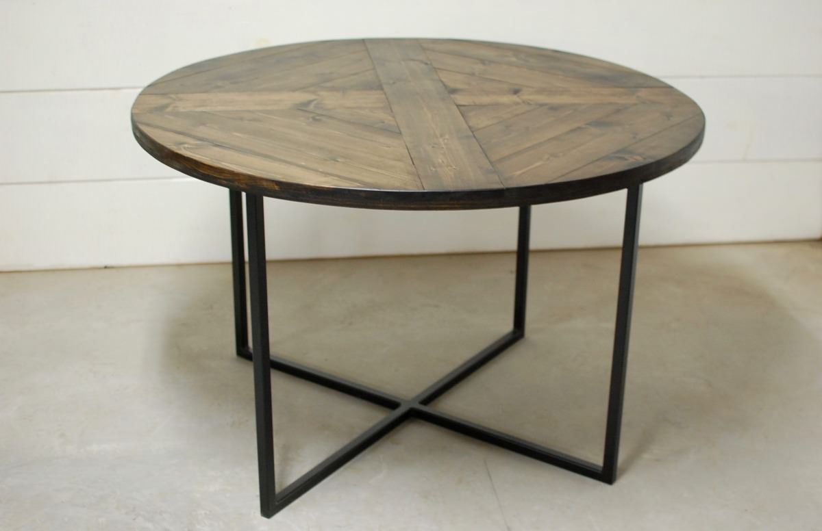 Wood Round Dining Table: Round Modern Wood Dining Table • Southern Sunshine