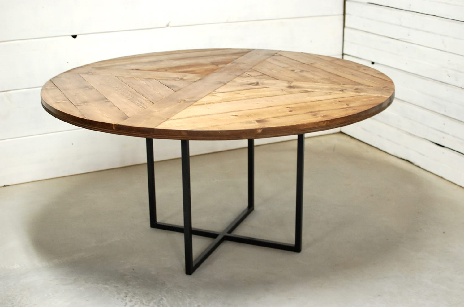 Round Modern Wood Dining Table • Southern Sunshine