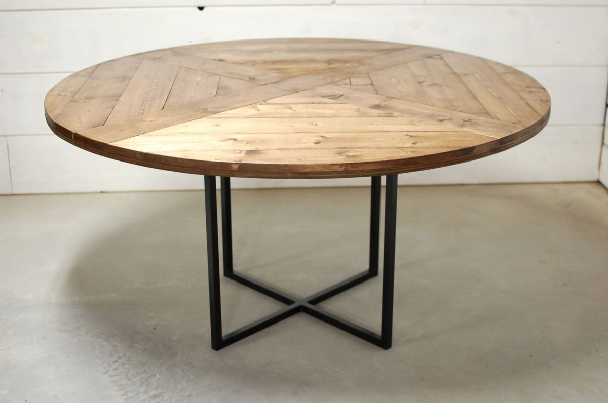Round Modern Wood Dining Table Southern Sunshine