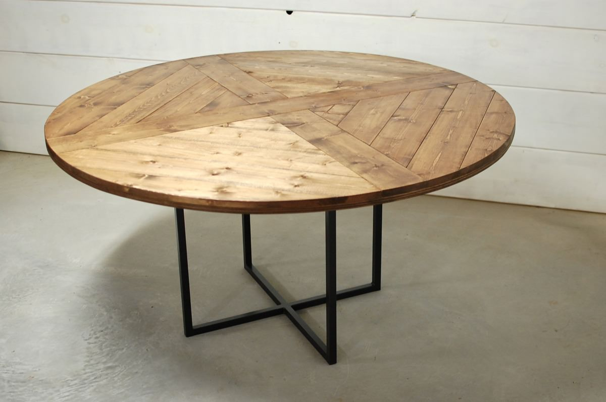 Designer Round Dining Tables: Round Modern Wood Dining Table • Southern Sunshine