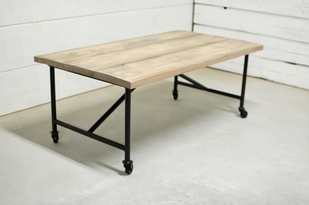 waco industrial farmhouse coffee table southern sunshine